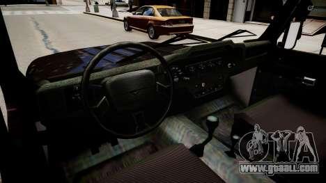 UAZ Hunter Beta for GTA 4 inner view
