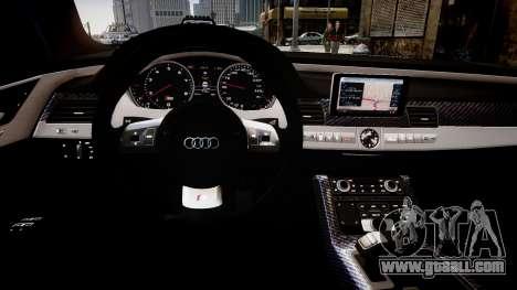 Audi S8 2013 for GTA 4 inner view