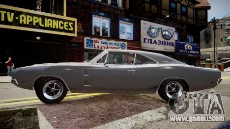 Dodge Charger RT 1969 for GTA 4 left view