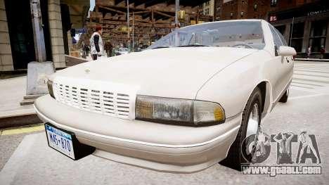 Chevrolet Caprice Civilian 1991 for GTA 4 right view