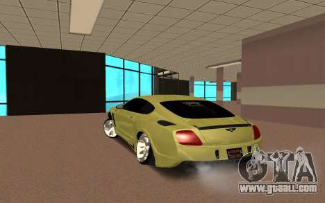 Bentley Continental for GTA San Andreas back left view