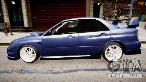 Subaru Impreza WRX STI for GTA 4 back left view