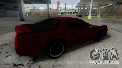 Pontiac Trans AM for GTA San Andreas left view