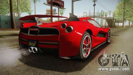 GTA 5 Progen Anubis for GTA San Andreas back left view
