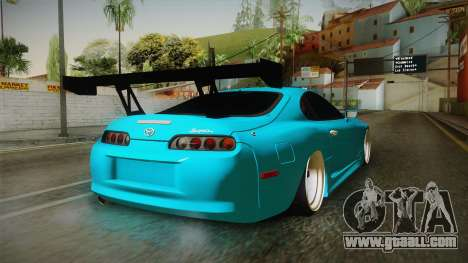 Toyota Supra Stance for GTA San Andreas back left view