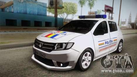 Dacia Sandero 2016 Romanian Police for GTA San Andreas
