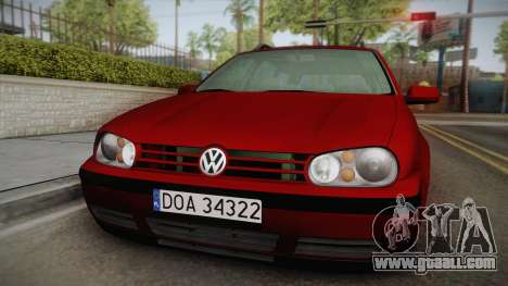 Volkswagen Golf 4 Variant 1.8 T for GTA San Andreas back left view