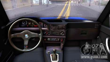 BMW E28 525e for GTA San Andreas inner view