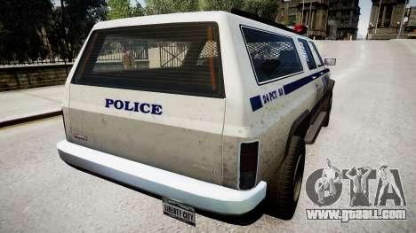 Declasse Police Ranger for GTA 4 back left view