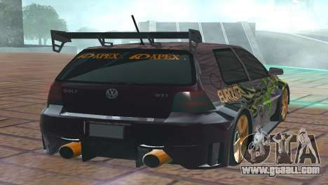 VOLKSWAGEN GOLF GTI LIGHT TUNING for GTA San Andreas back left view