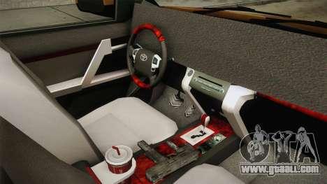 Toyota Land Cruiser Prado 2012 for GTA San Andreas inner view