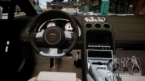 Lamborghini Gallardo Superleggera Custom 2007 for GTA 4 inner view
