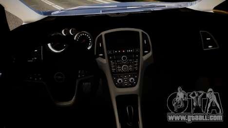 Opel Astra Senner for GTA 4 inner view