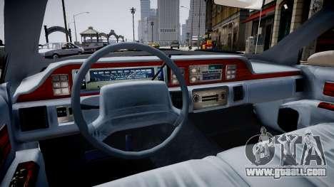 Chevrolet Caprice Civilian 1991 for GTA 4 inner view