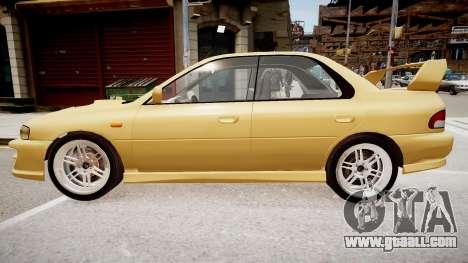 Subaru Impreza GC8 JDM Spec for GTA 4 left view