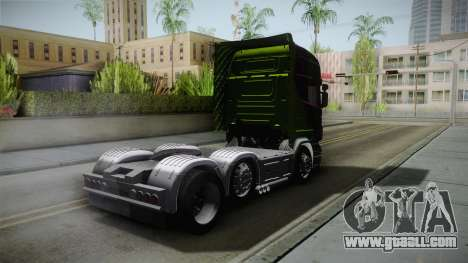 Scania R620 Malaysia Airlines for GTA San Andreas back left view