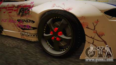 Nissan Silvia S15 Rocket Bunny Itasha for GTA San Andreas back view