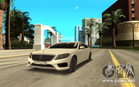 Mercedes-Benz S63 AMG for GTA San Andreas