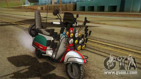GTA 5 Pegassi Faggio Cool Tuning v5 for GTA San Andreas