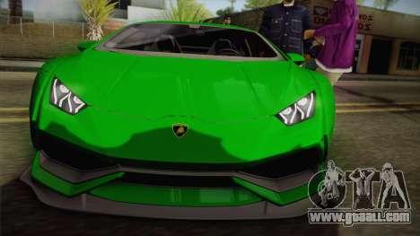 Lamborghini Huracan Liberty Walk for GTA San Andreas right view