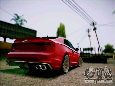 Audi S5 2017 for GTA San Andreas right view