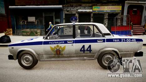 VAZ 2105 Police for GTA 4 left view