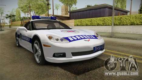 Chevrolet Corvette C6 Serbian Police for GTA San Andreas right view