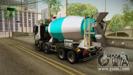 Iveco Trakker Hi-Land Cement Mixer 8x4 v3.0 for GTA San Andreas left view