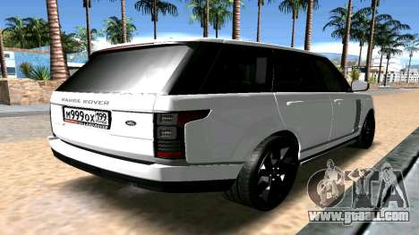 Range Rover for GTA San Andreas back left view