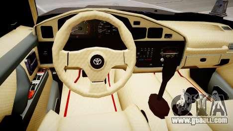 Toyota Land Cruiser GX 1997 for GTA 4 inner view