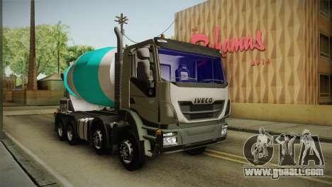Iveco Trakker Hi-Land Cement Mixer 8x4 v3.0 for GTA San Andreas back view