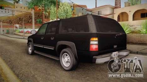 Chevrolet Suburban Z71 FBI for GTA San Andreas left view