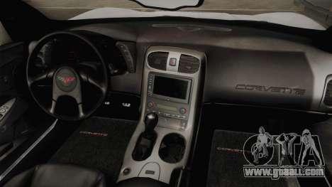 Chevrolet Corvette C6 Serbian Police for GTA San Andreas inner view