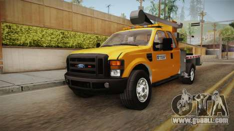 Ford F-350 2008 Cherry Picker for GTA San Andreas right view