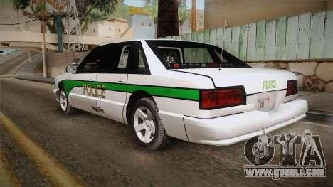 Declasse Premier 1993 Angel Pine Police for GTA San Andreas left view