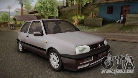 Volkswagen Golf Mk3 Stock for GTA San Andreas