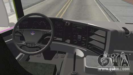 Scania R620 Malaysia Airlines for GTA San Andreas inner view