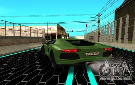 Lamborgini Aventador for GTA San Andreas back left view