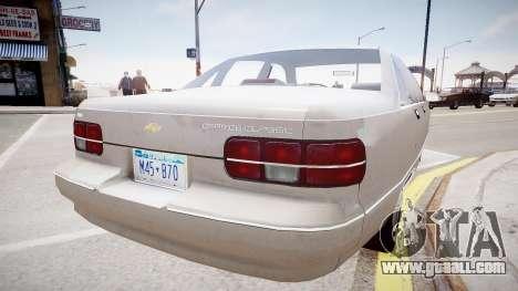 Chevrolet Caprice Civilian 1991 for GTA 4 left view