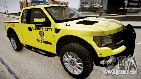 Ford Raptor SVT Department Lifeguard for GTA 4