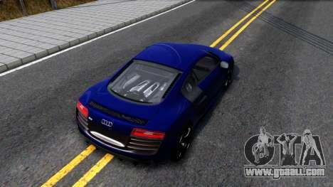 Audi R8 5.2 FSI quattro 2010 for GTA San Andreas back view