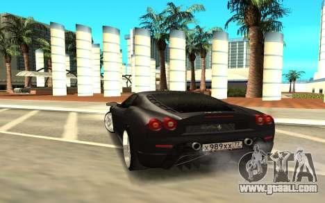 Ferrari F430 for GTA San Andreas back left view