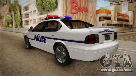Declasse Merit 2005 Dillimore Police Department for GTA San Andreas left view
