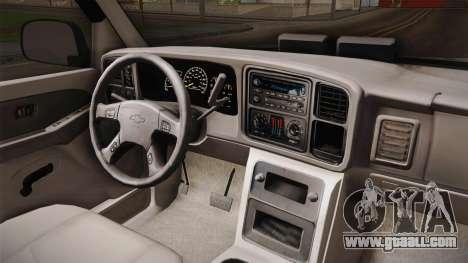 Chevrolet Suburban Z71 FBI for GTA San Andreas inner view