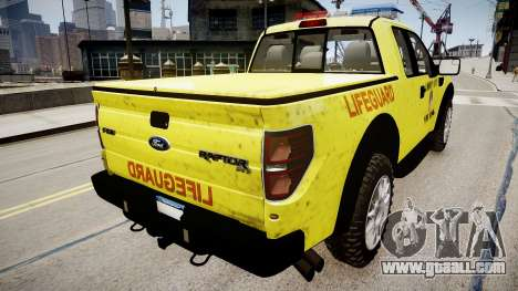 Ford Raptor SVT Department Lifeguard for GTA 4 left view