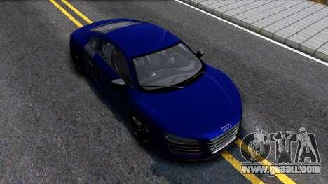Audi R8 5.2 FSI quattro 2010 for GTA San Andreas right view