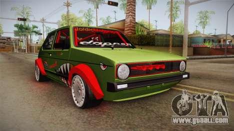 Volkswagen Golf Mk1 GTI 16v ITB v1.0 for GTA San Andreas right view