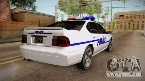 Declasse Merit 2005 Dillimore Police Department for GTA San Andreas right view