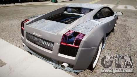 Lamborghini Gallardo Superleggera Custom 2007 for GTA 4 back left view
