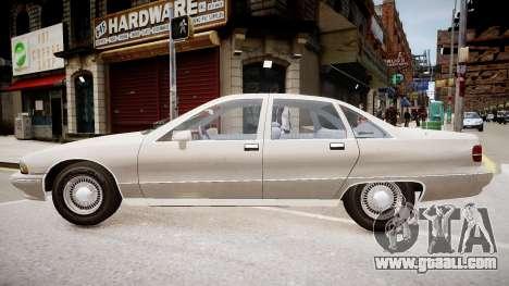 Chevrolet Caprice Civilian 1991 for GTA 4 back left view